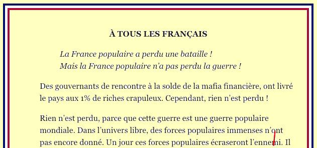L'appel du Général de Gaulle bis : «À TOUS LES FRANÇAIS…»