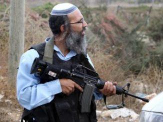 Un colon en Cisjordanie (Israël)