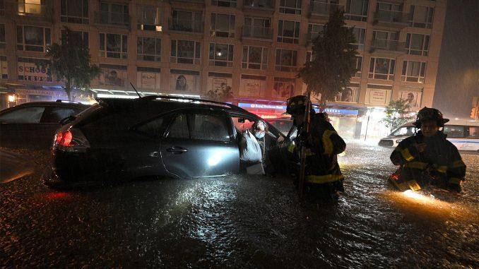 catastrophes naturelles : New York après le passage de la temête Ida